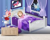 Tooth Fairy mural wallpaper living room preview