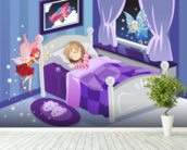 Tooth Fairy mural wallpaper in-room view
