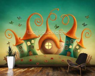 Fairy wallpaper wall murals wallsauce usa for Fairy mural wallpaper