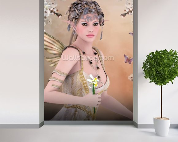 Fairy wall mural room setting