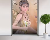 Fairy wall mural in-room view