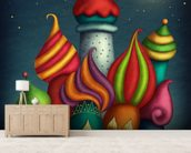 Aladdin's House wallpaper mural living room preview