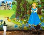 The Princess mural wallpaper kitchen preview