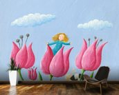 Thumbelina wall mural kitchen preview