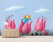 Thumbelina wall mural living room preview