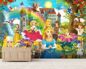 The Fairy Tales wallpaper mural living room preview