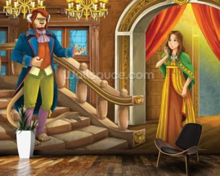 Beauty and the Beast wall mural