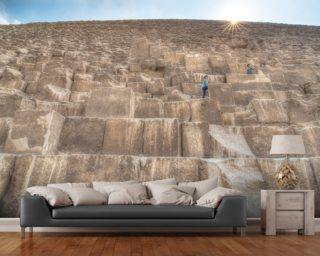 Children Climbing The Great Pyramid mural wallpaper