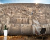 Children Climbing The Great Pyramid mural wallpaper kitchen preview