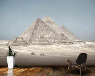 The Pyramids of Giza, Egypt mural wallpaper