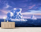 Icebeargs wall mural living room preview