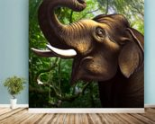 Indian Elephant Jungle wall mural in-room view