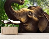 Indian Elephant Jungle wall mural living room preview