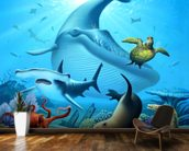 Ocean Life wall mural kitchen preview