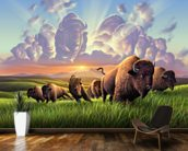 Stampede wallpaper mural kitchen preview