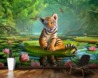 Tiger Lily Wallpaper Mural Wall Murals Wallpaper