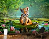 Tiger Lily wall mural kitchen preview