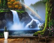 Waterfall mural wallpaper kitchen preview