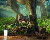 Wee Rex wall mural kitchen preview