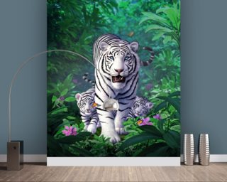 White Tigers Wallpaper Wall Murals Wallpaper