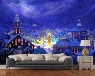 Christmas Town Wallpaper Mural Part 5