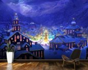 Christmas Town wall mural kitchen preview