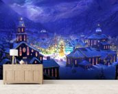 Christmas Town wall mural living room preview