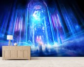 Truth mural wallpaper living room preview
