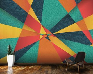 Colour Web wallpaper mural