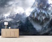 Dragonstone mural wallpaper living room preview