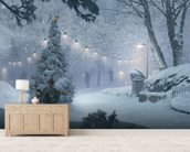 Winter Recon mural wallpaper living room preview