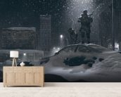 Winter Patrol wall mural living room preview