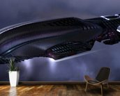 Alien Spaceship wallpaper mural kitchen preview