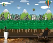 Balloon Landscape wall mural kitchen preview