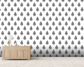 Christmas tree wall mural living room preview