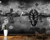 Ants mural wallpaper kitchen preview