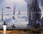 Spire Planet mural wallpaper kitchen preview