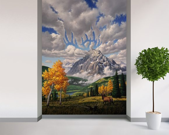 Autumn Echos wall mural room setting