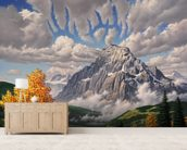 Autumn Echos wall mural living room preview