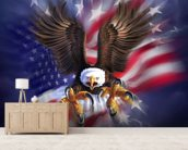 Eagle 2 wall mural living room preview