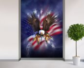 Eagle 2 wall mural in-room view