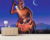 Kangaroos wall mural living room preview
