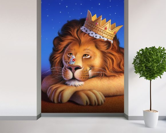 Lion King wallpaper mural room setting