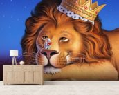 Lion King wallpaper mural living room preview
