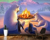 Polar Pals wallpaper mural kitchen preview