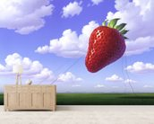 Strawberry wall mural living room preview