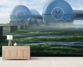 Dome factory wall mural living room preview