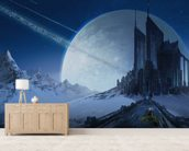 Foreign World Survey wall mural living room preview