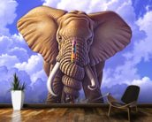 Elephant and Pencil wallpaper mural kitchen preview