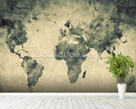 Ancient world map sketch ancient world map sketch wallpaper mural room setting gumiabroncs Gallery
